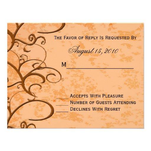 Fall/Autumn Wedding Invitation RSVP Card
