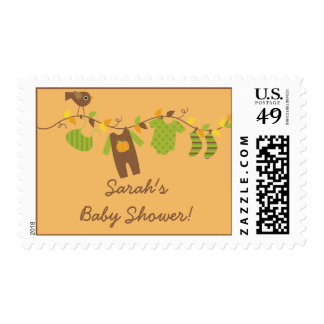 Fall Baby Clothesline Postage