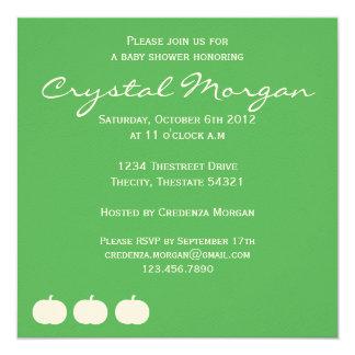 """Fall Baby Shower Invitation 5.25"""" Square Invitation Card"""