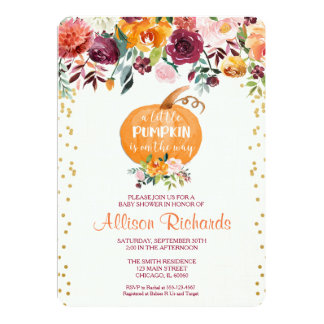 Little Falls Gifts On Zazzle - Fall baby shower invitation templates