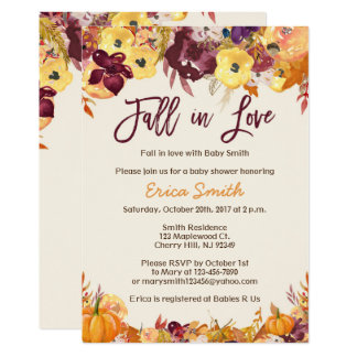 Fall Baby Shower Invitations - Fall in Love