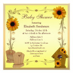 Fall Baby Shower Sunflowers, Crib & Crow Personalized Announcement