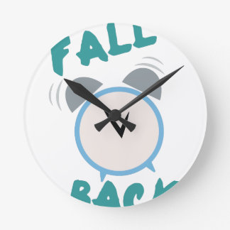 Fall Back Round Clock
