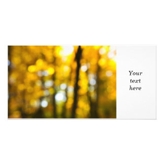 Fall background photo card template