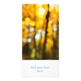 Fall background picture card
