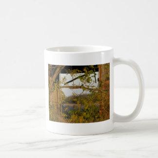 fall barn door coffee mug