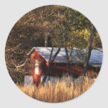 Fall Barn in Central Maryland Classic Round Sticker