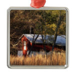 Fall Barn in Central Maryland Metal Ornament