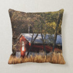 Fall Barn in Central Maryland Throw Pillow