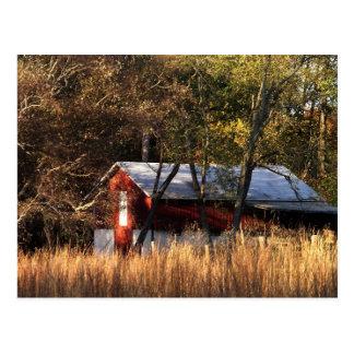 Fall Barn Postcard