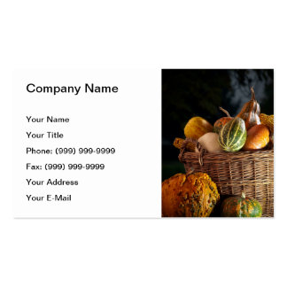 Fall basket business card