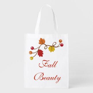 Fall Beauty Grocery Bag