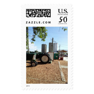 Fall Beginnings Tractors and Silos Postage