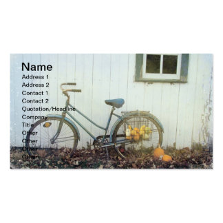 Fall Bicycle Business Card