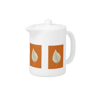 Fall Birch Leaves Teapot
