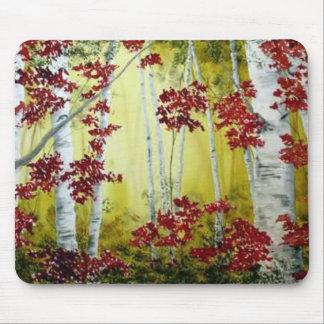 Fall Birch Mousepbad Mouse Pad