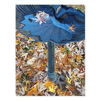 Fall Birdbath Card