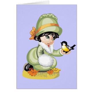 Fall Birds Greeting Card