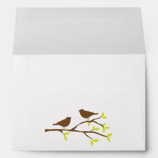 Fall Birds on a Branch Envelope