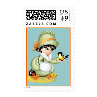 Fall Birds Stamp