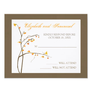 Fall Bittersweet Wedding RSVP Card