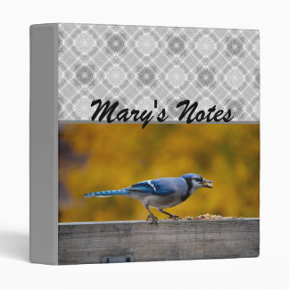 Fall Blue Jay 3 Ring Binder