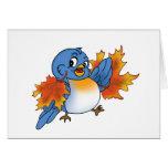 Fall Bluebird 1 Greeting Cards
