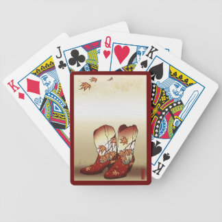 Fall Boots playing Cards