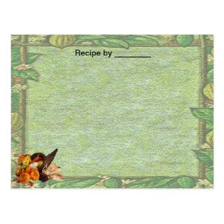 Fall Border Recipe Blank Card