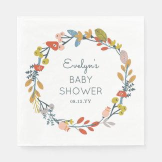 Fall Botanical Baby Shower Napkin
