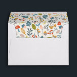 """Fall Botanical Envelope<br><div class=""""desc"""">Whimsical and colorful fall foliage pattern design by Shelby Allison.</div>"""