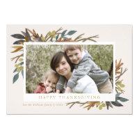 Fall Bouquet Thanksgiving Photo Card