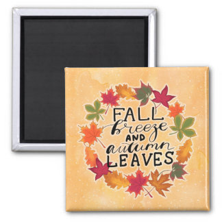 Fall Breeze And Autumn Leaves Magnet