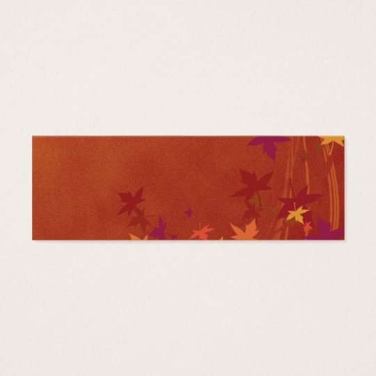 Fall Breezes Thanksgiving Placecard Mini Business Card
