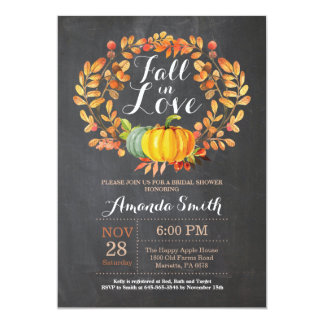 Fall Bridal Shower Invitation Card Chalkboard