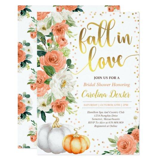 fall bridal shower invitation fall in love shower