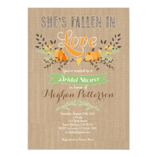 Fall Bridal Shower Invitation with Pumpkin