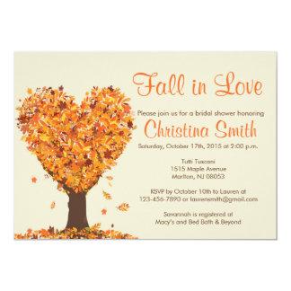 fall bridal shower invitations fall in love