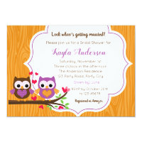 Fall Bridal Shower Invitations with Owls