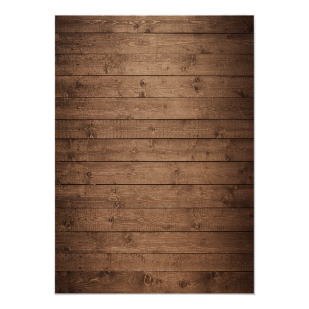 Fall Bridal Shower | Rustic Wood Mason Jars Lights Card (back side)