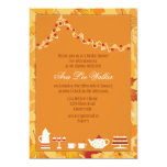 Fall Bridal Tea Party Invitation