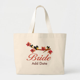 Fall Bride Favors and Apparel Canvas Bags