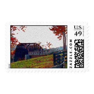 Fall Bridge Postage