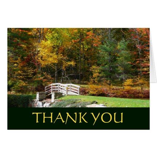 Fall Bridge Thank You Card (Blank Inside)