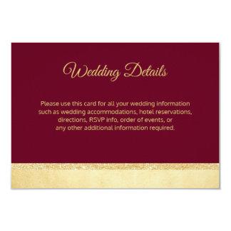 Fall Burgundy Gold Wedding Details Inserts Invitation