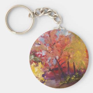 Fall Burst Basic Round Button Keychain