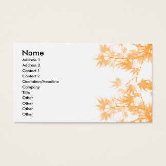 Fall Business Card