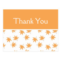 Fall c yellow leaves wedding favor thank you   postcards