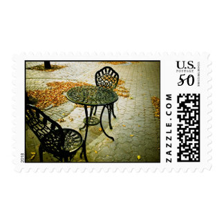 Fall Cafe Patio 01 Postage