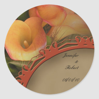 Fall Cala Lily Bouquet Envelope Seal Stickers